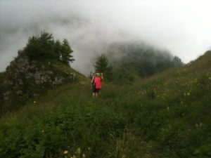 Monte Bastia (2134m) im Nebel